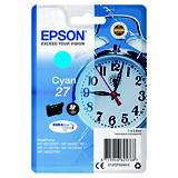 Epson 27, C13T27024012, Cartucho de Tinta, DURABrite Ultra, Despertador, Cian