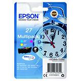 Epson 27, C13T27054012, Cartucho de Tinta, DURABrite Ultra, Despertador, Cian, Magenta, Amarillo