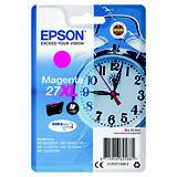 Epson 27XL, C13T27134012, Cartucho de Tinta, DURABrite Ultra, Despertador, Magenta, Alta capacidad