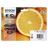 Epson 33, C13T33374011, Cartucho de Tinta, Claria Premium, Naranja, Negro, Cian, Magenta, Amarillo, Negro fotográfico, Multipack