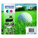 Epson 34XL, C13T34764010, Cartucho de Tinta, DURABrite Ultra, Pelota de golf, Negro, Cian, Magenta, Amarillo, Alta capacidad