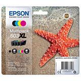Epson 603XL, C13T03A64010, Cartucho de Tinta, Estrella de mar, Cian, Magenta, Amarillo, Negro, Alta capacidad, Multipack