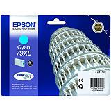 Epson 79XL, C13T79024010, Cartucho de Tinta, DURABrite Ultra, Torre de Pisa, Cian, Alta capacidad