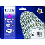 Epson 79XL, C13T79034010, Cartucho de Tinta, DURABrite Ultra, Torre de Pisa, Magenta, Alta capacidad