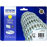 Epson 79XL, C13T79044010, Cartucho de Tinta, DURABrite Ultra, Torre de Pisa, Amarillo, Alta capacidad