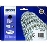 Epson Cartouche d'encre DURABrite Ultra 79XL N Tour de Pise, C13T79014010 (Pack de 1) Grande capacité, Noir