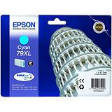Epson Cartouche d'encre DURABrite Ultra 79XL C Tour de Pise, C13T79024010 (Pack de 1) Grande capacité, Cyan
