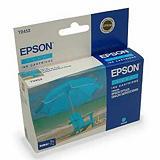 Epson Cartuccia inkjet Serie Ombrellone T0452, C13T04524010, Inchiostro DURABrite, Ciano, Pacco singolo