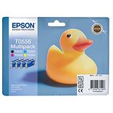 Epson Cartuccia inkjet Serie Paperella T0556, C13T05564010, Nero, Ciano, Giallo, Magenta, Multipack