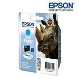 Epson Cartuccia inkjet Serie Rinoceronte T1002, C13T10024010, Inchiostro DURABrite Ultra, Ciano, Pacco singolo