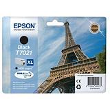 Epson Cartuccia inkjet Serie Torre Eiffel T7021 XL, C13T70214010, Inchiostro DURABrite Ultra, Nero, Pacco singolo Alta Capacità