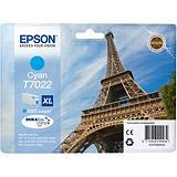 Epson Cartuccia inkjet Serie Torre Eiffel T7022 XL, C13T70224010, Inchiostro DURABrite Ultra, Ciano, Pacco singolo Alta Capacità
