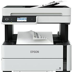 Epson EcoTank ET-M3170, Jet d'encre, Impression mono, 1200 x 2400 DPI, Copie simple, A4, Noir, Blanc C11CG92402