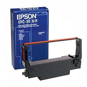 Epson ERC 38B/R, C43S015376, Cinta de Impresión, Negro y Rojo
