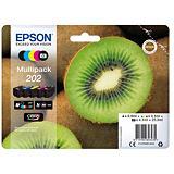 Epson Kiwi Multipack 5-colours 202 Claria Premium Ink, Original, Dye-based ink / Pigment-based ink, Noir, Cyan, Magenta, Photo noire, Jaune, Epson, 1 pièce(s), Impression à jet d'encre C13T02E74020