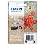 Epson Multipack 3-colours 603 Ink, Original, Cyan, Magenta, Jaune, Epson, Expression Home XP-2100, XP-2105, XP-3100, XP-3105, XP-4100, XP-4105, WorkForce WF-2850DWF,..., 1 pièce(s), Rendement standard C13T03U54020