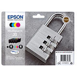 Epson Padlock Multipack 4-colours 35 DURABrite Ultra Ink, Original, Encre à pigments, Noir, Cyan, Magenta, Jaune, Epson, - WorkForce Pro WF-4740DTWF - WorkForce Pro WF-4730DTWF - WorkForce Pro WF-4725DWF - WorkForce Pro..., 1 pièce(s) C13T35864020