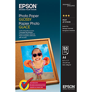 Epson Photo Paper Glossy - A4 - 50 Feuilles, Gloss, 200 g/m², A4, 50 feuilles, - WorkForce WF-7610DWF - WorkForce WF-7110DTW - WorkForce WF-3620DWF - WorkForce WF-2750DWF -..., 1 pièce(s) C13S042539