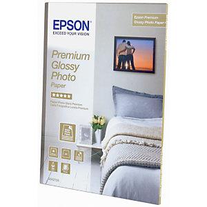 Epson Premium Glossy Papel Fotográfico para Impresoras de Inyección de Tinta Blanco Brillante 130 x 180 mm 255 g/m²