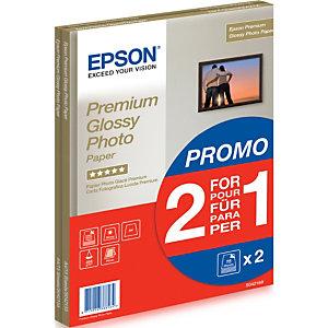 Epson Premium Glossy Photo Paper - A4 - 2x 15 Feuilles, Brillant premium, 255 g/m², A4, 30 feuilles, - SureColor SC-T7200D-PS - SureColor SC-T7200D - SureColor SC-T7200-PS - SureColor SC-T7200 -..., 1 pièce(s) C13S042169