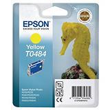 Epson T0484, C13T04844010, Cartucho de Tinta, ULTRACHROME® K3, Caballito de mar, Amarillo