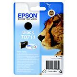 Epson T0711, C13T07114012, Cartucho de Tinta, DURABrite Ultra, Guepardo, Negro