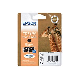 Epson T0711H, C13T07114H10, Cartucho de Tinta, DURABrite Ultra, Jirafas, Negro