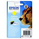 Epson T0714, C13T07144012, Cartucho de Tinta, DURABrite Ultra, Guepardo, Amarillo