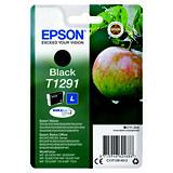 Epson T1291, C13T12914012, Cartucho de Tinta, DURABrite Ultra, Manzana, Negro