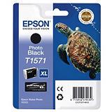 Epson T1571, C13T15714010, Cartucho de Tinta, Tortuga, Ultrachrome K3, Negro Fotográfico, Alta Capacidad