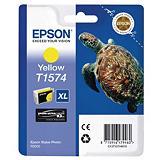 Epson T1574, C13T15744010, Cartucho de Tinta, Tortuga, Ultrachrome K3, Amarillo, Alta Capacidad, Paquete Unitario
