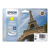 Epson T7024 XL, C13T70244010, Cartucho de Tinta, DURABrite Ultra, Torre Eiffel, Amarillo