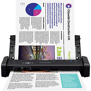 Epson WorkForce DS-310, 215,9 x 1117,6 mm, 1200 x 1200 DPI, 50 ppm, 50 ppm, Scanner à feuille portative, Noir B11B241401