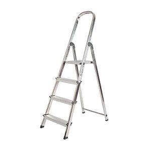 Escalera de aluminio, 4 peldaños