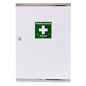 Esculape Armoire à pharmacie vide ,1 porte double en métal - Laquée blanche
