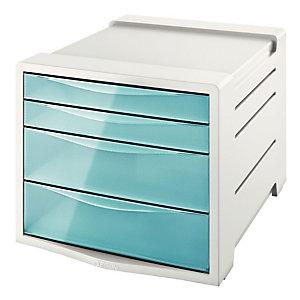 Esselte bloc de classement 4 tiroirs Colour'Ice - Bleu