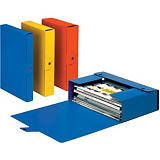 Esselte Cartella progetti Delso Order, Cartone, Blu, 350 mm x 250 mm x 80 mm