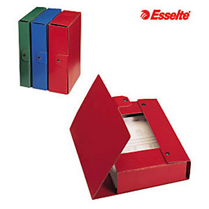 Esselte Cartella progetti Eurobox, Cartone, Blu, 350 mm x 250 mm x 80 mm