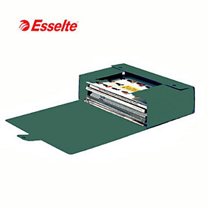 Esselte Cartella progetti Eurobox, Cartone, Verde, 350 mm x 250 mm x 150 mm