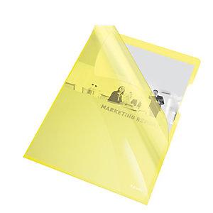 ESSELTE Cartelline a L - PVC - liscio - 21x29,7 cm - giallo cristallo - Esselte - conf. 25 pezzi