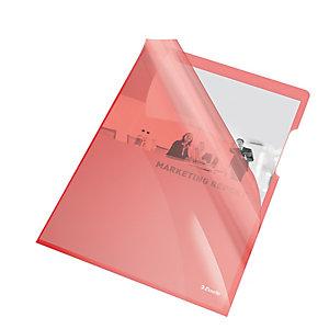 ESSELTE Cartelline a L - PVC - liscio - 21x29,7 cm - rosso cristallo - Esselte - conf. 25 pezzi