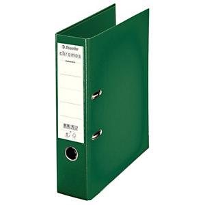 Esselte Classeur à levier A4 Chromos Plus en polypropylène - Dos 8 cm - Vert