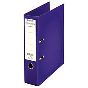 Esselte Classeur à levier A4 Chromos Plus en polypropylène - Dos 8 cm - Violet