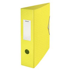 Esselte Colour'Ice Archivador de palanca, A4, Lomo 82 mm, Capacidad 500 hojas, polyfoam, Amarillo