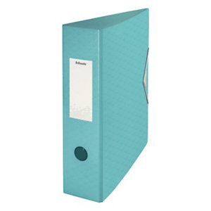 Esselte Colour'Ice Archivador de palanca, A4, Lomo 82 mm, Capacidad 500 hojas, polyfoam, Azul