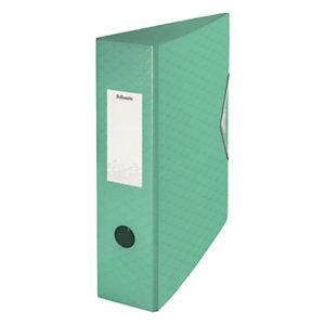 Esselte Colour'Ice Archivador de palanca, A4, Lomo 82 mm, Capacidad 500 hojas, polyfoam, Verde