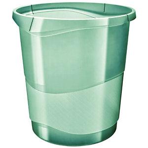 Esselte Colour'Ice Cestino gettacarte, Verde traslucido