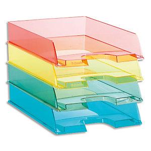 ESSELTE Corbeille à courrier COLOUR'ICE Coloris assortis. Dimensions (lxhxp) : 25,4x6,1x35cm