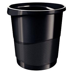 ESSELTE Corbeille à papier ESSELTE Europost opaque - 14L - Noir