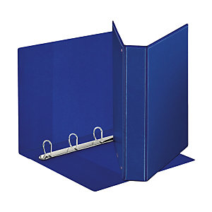 Esselte Display Raccoglitore ad anelli personalizzabile, A4, Dorso 40 mm, Capacità 230 fogli, Cartone, Blu